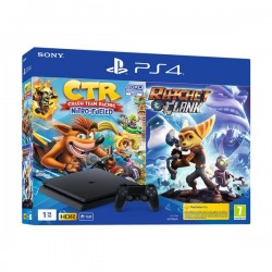 SONY PLAYSTATION 4 SLIM 1TB & CRASH TEAM RACING NITRO-FUELED & RATCHET AND CLANK - PS719962700
